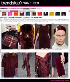 Fall 2013 Fashion Trends | Hot color for Fall is Wine