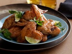 In just 30 minutes, you can make Tyler's Crisp Chicken Wings with Chili-Lime Butter that are sure to please any dad.