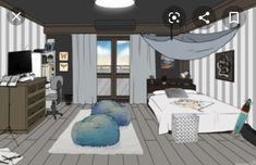 Dorm Layout, Dorm Room Layouts, Dorm Rooms, Dorm Design, Dorm Room Designs, Room Ideas Bedroom, Room Decor, Room Maker, Casa Anime
