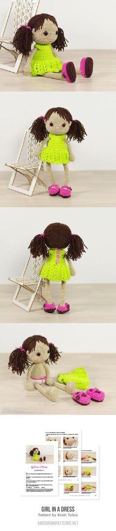 Girl In A Dress Amigurumi Pattern (Kristi Tullus designer)