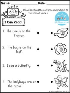 FREE Reading comprehension activities! Great for pre-k, kindergarten, first grade or ESL students. free reading comprehension, free kindergarten reading, free kindergarten printables, tpt freebies, first grade reading, pre-k reading, picture comprehension, english language arts.