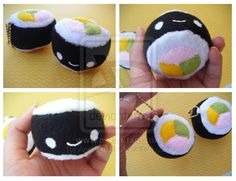sushi keychain plushies by ~Anna-Le16 on deviantART