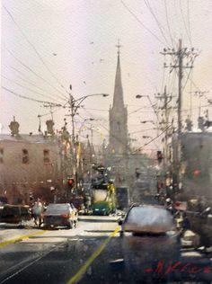 Joseph Zbukvic, Brunswick Street 1 Watercolour