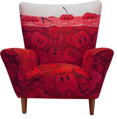 Cute ღ❥ Red ❥ღ Cherries Sofa Design Funky Furniture, Unique Furniture, Painted Furniture, Furniture Design, Sofa Design, Interior Design, Love Chair, Take A Seat, Cool Chairs