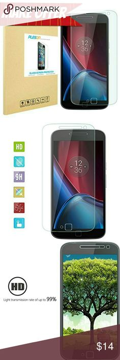 Moto G4 Plus Glass Protector Advanced fit and perfect size for Motorola Moto G Plus (4th Gen.) Release. Amazing look and feel! Real glass makes for real difference in quality and touch sensitivity!  Scratch resistant, Shatterproof, Perfect Clarity and Touchscreen Functionality / No Rainbow Screen / Bubble-free.  *BUNDLE WITH OTHER ITEMS TO SAVE & MAKE A OFFER ON BUNDLE!* Accessories