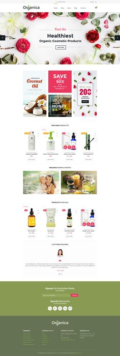 Check out New Organica - Organic Food, Cosmetics and Bio Active Nutrition WooCommerce Theme. It was created for selling farming and agriculture stuff, bio active products, and natural cosmetics. Its clean, fresh and modern layout features a well-balanced content positioning. #woocommercetheme #woocommerce #woocommercedesign #ecommerce #onlinestoredesign https://www.templatemonster.com/woocommerce-themes/60093.html