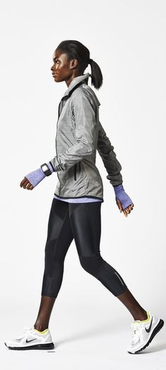 Water-repellent Nike running jacket. Lightweight and very sleek. #running #clothes