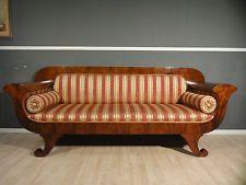 Biedermeier Sofa  Mahagoni um 1840 TOP ANTIK-LEIPZIG