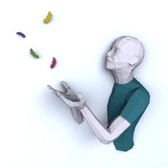PDF à transformer en sculpture murale - Le papercraft 3D Sculptures, Creations, Bricolage, Paper, Sculpture