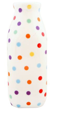 Polka Dot Milk Bottle by Fishs Eddy