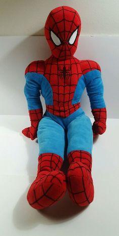9a382fdd39a Marvel Comics MarvelKids SPIDERMAN Soft Stuffed Plush Spider Man Doll HUGE  27