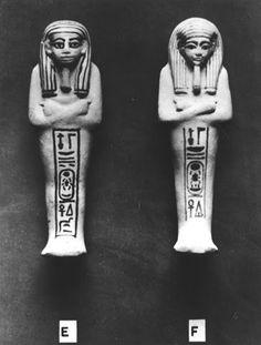 Ushebtis de Tutankhamon  Clasificación: Burton Photo. No. P1428  Fotografía: Harry Burton, 1922.  Griffith Institute, Ashmolean Museum, Oxford.