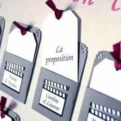 Plan de table mariage cinéma