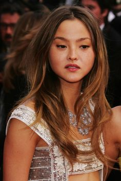 Devon+Aoki in Cannes - My Blueberry Nights - Premiere & Opening Night Aoki Devon, Devon Carlson, Messy Hairstyles, Updo Hairstyle, Party Hairstyles, Hairstyle Ideas, Aesthetic People, Celebs, Celebrities