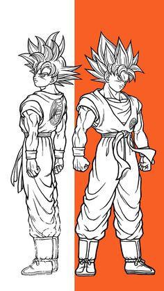 Dragon Ball Image, Dragon Ball Gt, Mighty Power Rangers, Dbz Drawings, Goku Drawing, Sketches, Manga, Son Goku, Marvel