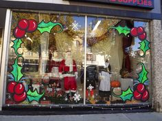 Whimsical Window Painting: Taylor Maid Provo, UT Christmas Window