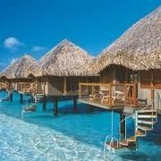Bora Bora, Leeward Islands, Frans-Polynesi. I've always wanted to stay in a bungalow!