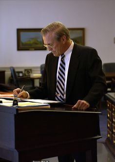 Secretary of State, Donald Rumsfeld's Standing Desk in the White House, 2003 #standingdesk