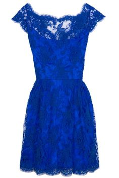 Issa Silk Satin and Lace Dress. I LOVE THIS!!! Favorite color + lace = beautiful!!