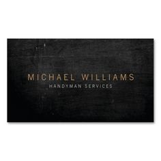 Rustic Modern Handyman, Builder Business Card. This great business card design is available for customization. All text style, colors, sizes can be modified to fit your needs. Just click the image to learn more!