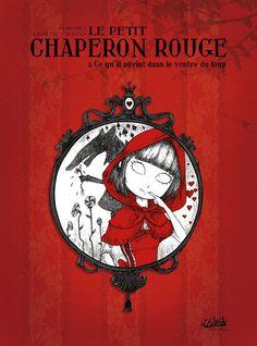 Le petit chaperon rouge, adaptation du roman de Charles Perrault, par le dessinateur François Amoretti. Son travail est fortement influencé par les estampes de Hokusaï et les gravures de John Tenniel.