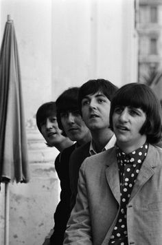 John,George,Paul and Ringo.