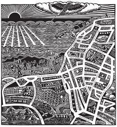 Hugh Ribbans : Linocuts & Woodcuts - Art For Sale....Down To Margate.