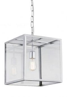lampa wisząca S 1 x 60W E27 (chrom)
