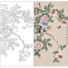China Painting, Silk Painting, Botanical Drawings, Botanical Art, Basic Sketching, Japanese Art Styles, Tie Dye Crafts, Christmas Drawing, Korean Art
