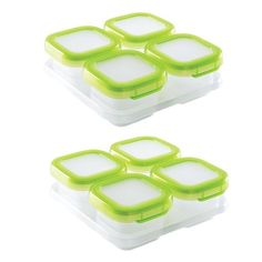 2 Pack Baby Blocks Freezer Storage Containers - 4 oz by OXO Tot at BabyEarth.com, $19.98