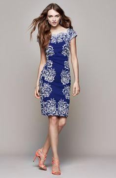 Tadashi Shoji Embroidered Neoprene Sheath Dress | Nordstrom