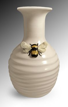 Bee Vase: Lisa Scroggins: Ceramic Vase   Artful Home