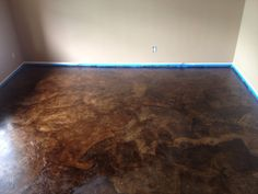 Project: Brown paper bag floors stained to look like stained concrete. Costs: Less than $100 to do a normal sized dining room floor. (Seriously!) Goal: To not have to rip up the floor after killing…
