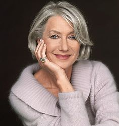 Helen Mirren - now Dame Helen Mirren is an exceptionally talented lady.  Everything's she turns her hand to turns out magnificent whether it be Shakespeare, Jane Tennyson or Elizabeth II. She's graceful, yet honest and a tribute to all of us growing old 'disgracefully'.