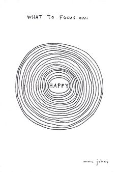 what to focus on : HAPPY