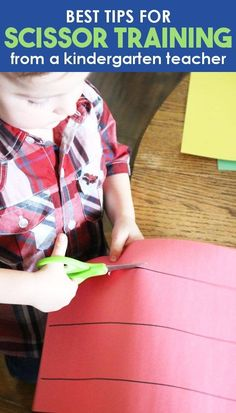 Get the best tips for scissor practice for kids from a preschool and kindergarten teacher! Easy cutting practice activities for toddlers, preschool, and kindergarten students. Teach children how to use scissor with these easy scissor skill ideas! #Kindergarten#Preschool #LearningActivities#KidsActivities
