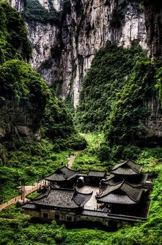 Wulong Karst, South China Karst UNESCO World Heritage Site. #China #places #landscape