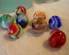 Rare Marbles | Old Collectible Marbles by MissUFO on Etsy
