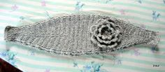 Classic Inez: Knitted-Look Flowered Headband Crochet Pattern (Free) Headband pattern only