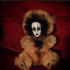 Bastet2329 OOAK Creepy Gothic Pretty Face Teddy Bear Doll