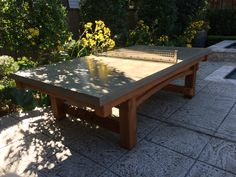 This One Of A Kind Outdoor Ping Pong Table Was A Custom Request From The  Otness