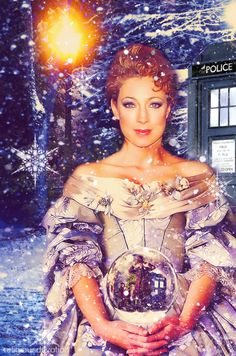 River Song in the Doctor Who Christmas Special: The Snowmen. She is so pretty, like seriously I want to be river when I grow up. The Doctor, New Doctor Who, Bbc, Doctor Who Christmas, Trust, Alex Kingston, Hello Sweetie, Don't Blink, Torchwood