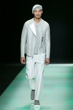 A look from the Emporio Armani Spring 2016 Menswear collection.