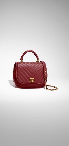 cc7d210e9 Flap bag with top handle, lambskin & gold-tone metal-pink - CHANEL. Kabelky  ChanelBurberry