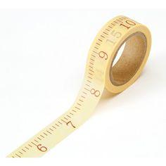 5/8 inch Washi Tape - Tape Measure Print