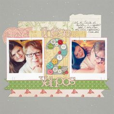One-Hour Challenge: Filling Negative Shapes with Buttons and Brads - Club CK Blog - Club CK - The Online Community and Scrapbook Club from Creating Keepsakes