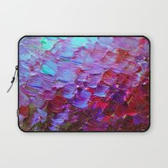 """Mermaid Scales"" by Ebi Emporium on #Society6, Fine Art Macbook Laptop Computer Sleeve Abstract Acrylic Painting Modern Decorative Eggplant Dark Purple Violet Turquoise Ombre, #fineart #ombre #art #purple #purple #mermaid #colorful #abstractpainting #EbiEmporium #JuliaDiSano #macbook #sleeve #laptop #laptopcover #decal #tech #techie"