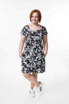 PDF Naisten mekko 32-56 ⋆ Jujuna Shirt Dress, T Shirt, Diy Clothes, Knitting, Sewing, Inspiration, Dresses, Clothing Ideas, Products