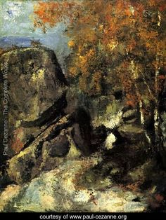 Rock In The Forest Of Fontainbleau Rock In The Forest Of Fontainbleau Paul Cezanne Reproduction Art Gallery Pierre Auguste Renoir, Abstract Canvas, Canvas Art, Paul Cezanne Paintings, Art Sur Toile, Forest Art, Ouvrages D'art, Henri Matisse, Art World