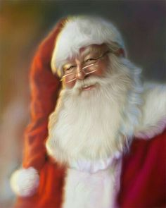 This is my Santa! Old Santa Claus Christmas artworks illustrations